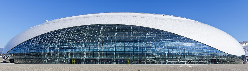索契 奥林匹克公园 设施和吸引力 免版税图库摄影
