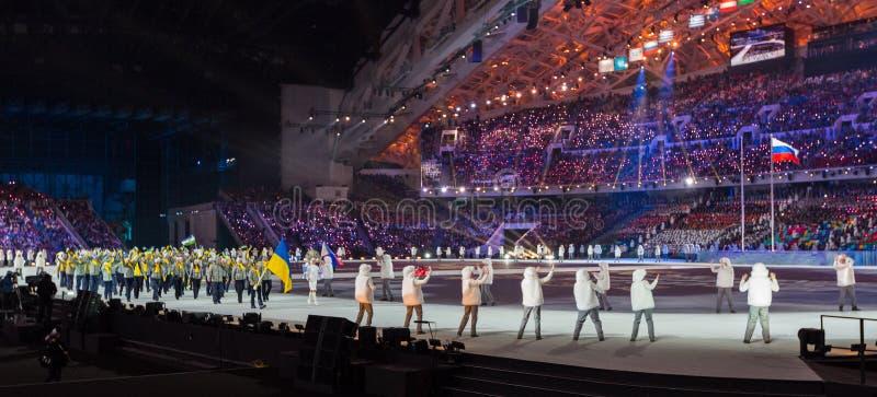 索契2014年奥运会开幕式 图库摄影