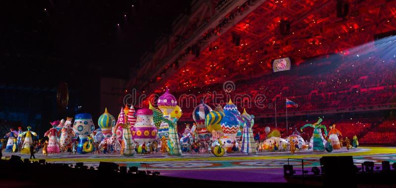 索契2014年奥运会开幕式 库存图片