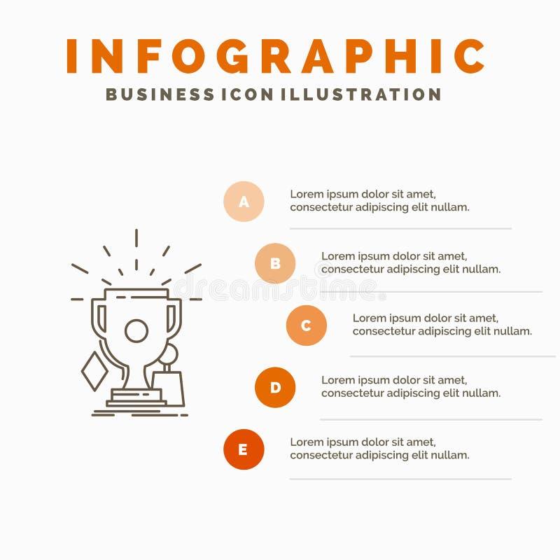 奖、比赛、体育、战利品、优胜者Infographics模板网站的和介绍 r 库存例证