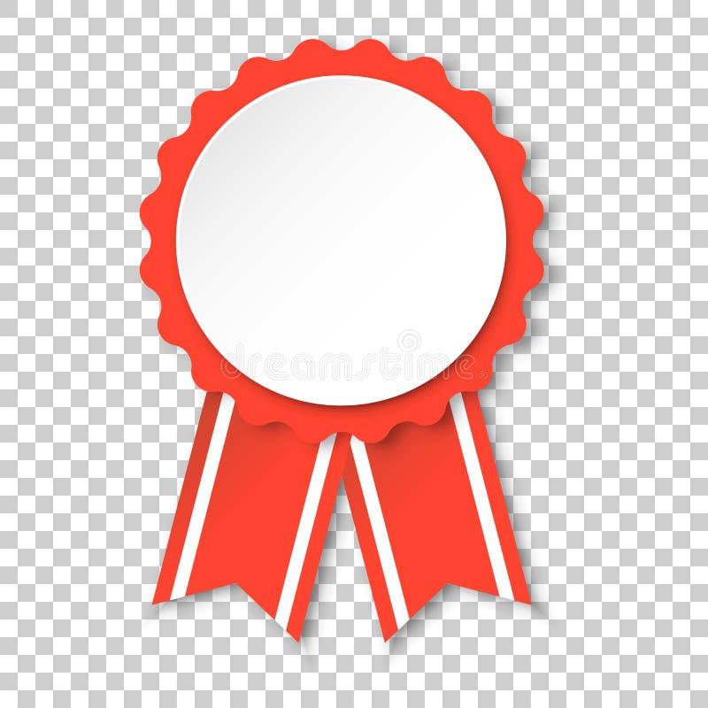 奖丝带象 奖牌在被隔绝的transpar的徽章例证 库存例证