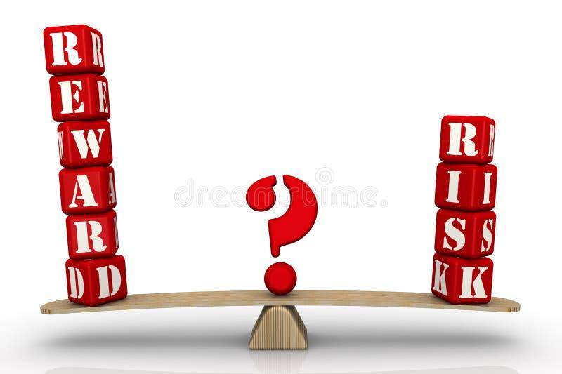 奖励或风险 挑选问题 库存例证