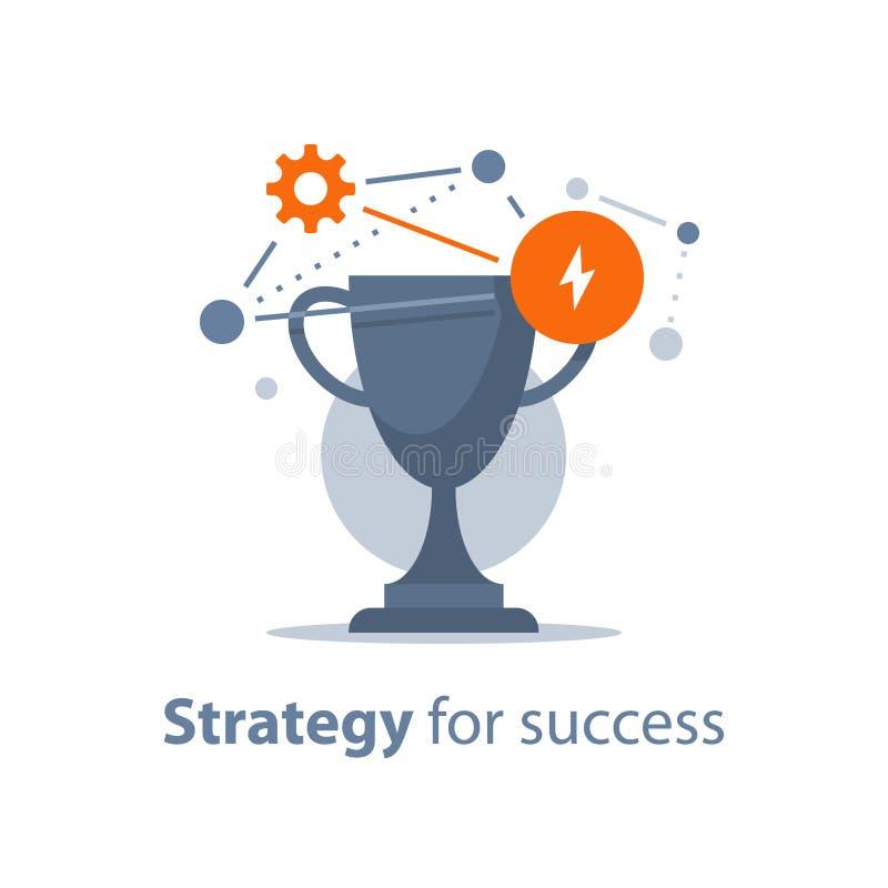 奖励节目,奖杯,成功的,胜利奖,比赛战利品,颁奖典礼,大成就,第一个地方碗战略 向量例证
