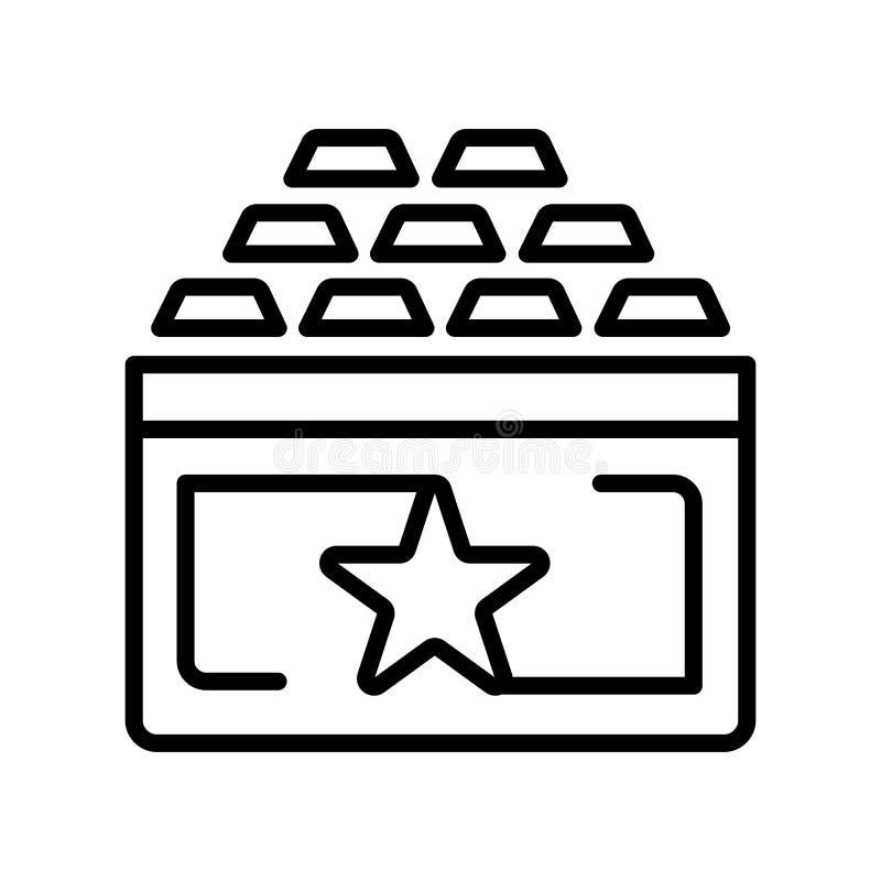 奖励象在白色背景和标志隔绝的传染媒介标志 向量例证