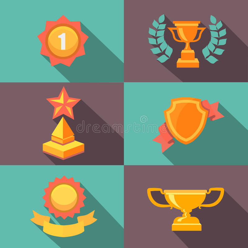 奖和战利品象平的传染媒介例证 向量例证