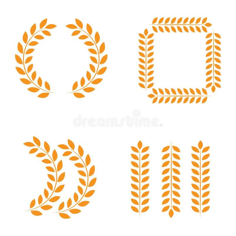 奖奖牌 优胜者奖牌金古铜色银第一地方战利品冠军荣誉最佳的发光的圈子仪式奖,传染媒介 向量例证