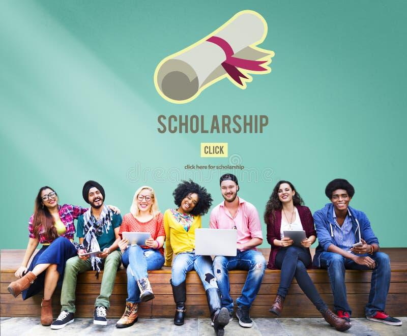奖学金援助大学教育贷款金钱概念 免版税库存照片
