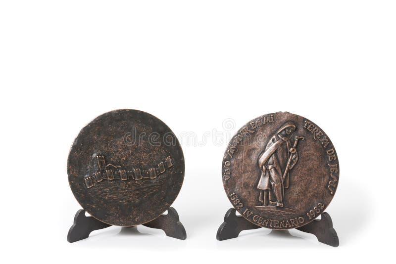 奖牌圣特里萨死亡的第四个百年  年1982年 免版税库存图片