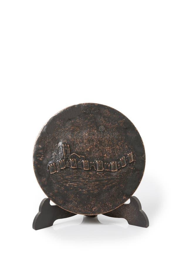 奖牌圣特里萨死亡的第四个百年  年1982年 免版税图库摄影