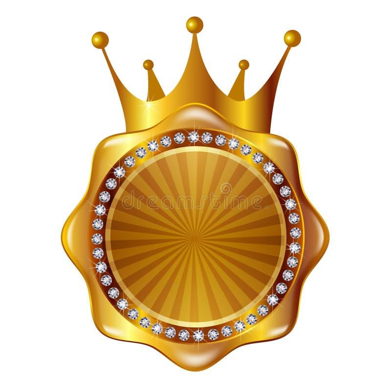 奖牌框架圈子 皇族释放例证