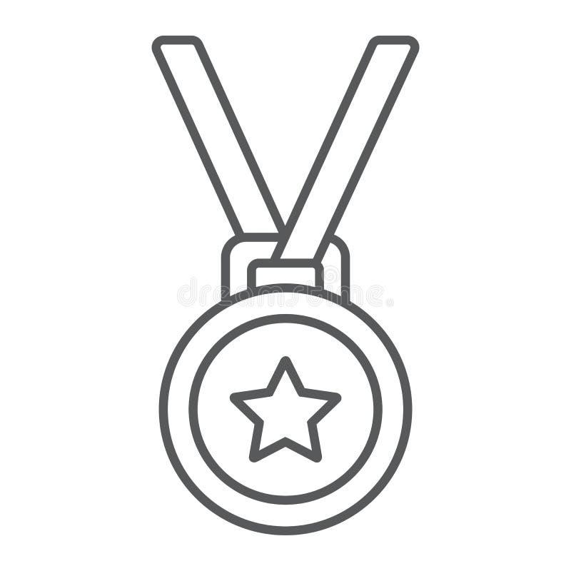 奖牌稀薄的线象、战利品和奖 皇族释放例证