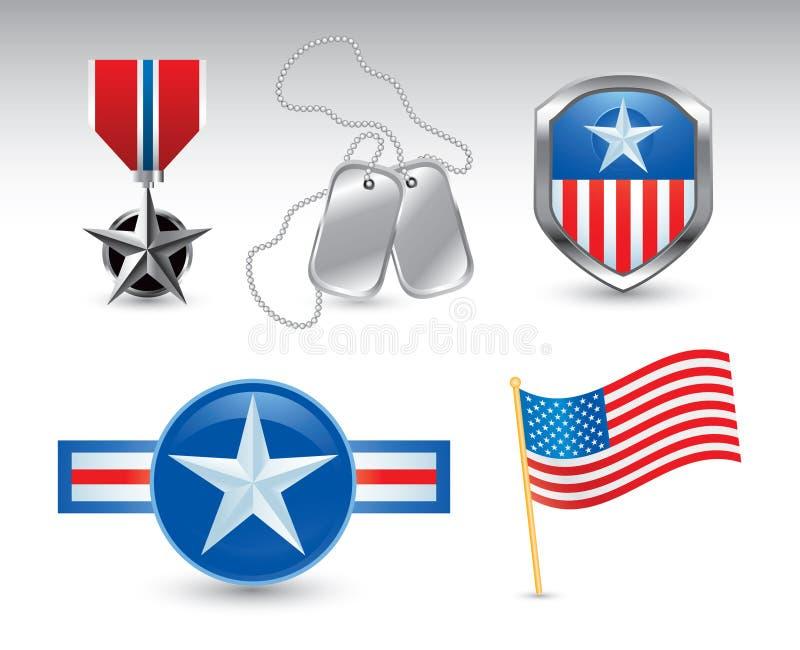 奖牌符号美国 皇族释放例证