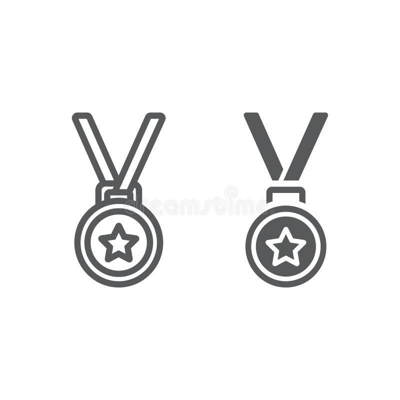 奖牌线和纵的沟纹象、战利品和奖 皇族释放例证