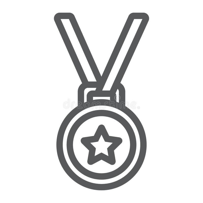 奖牌线象,战利品和奖,最佳的学生 向量例证