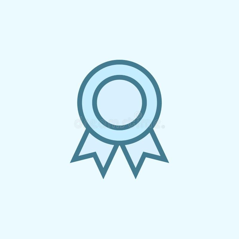 奖牌领域概述象 2种颜色简单的象的元素 网站设计和发展的, app发展稀薄的线象 皇族释放例证