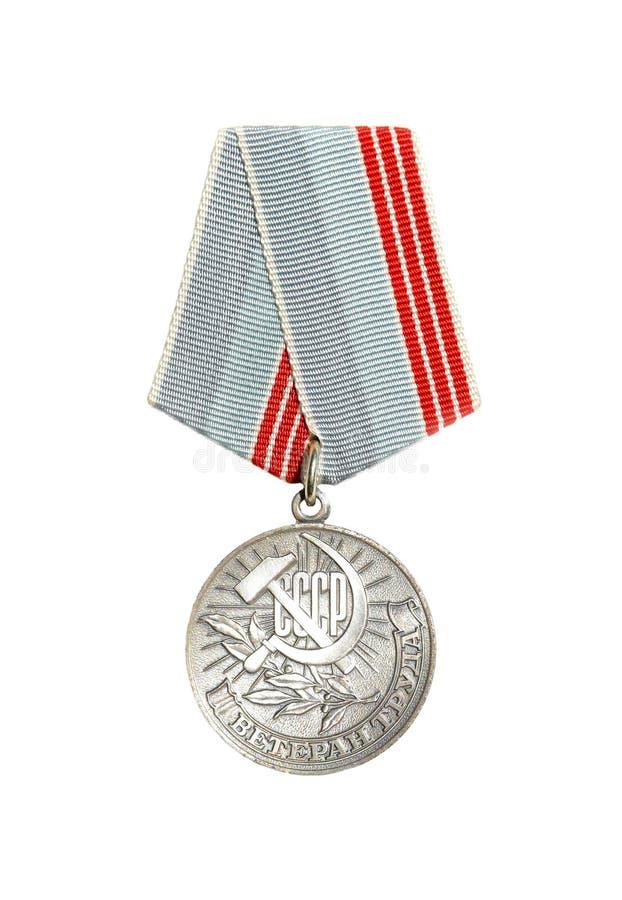 奖牌& x22; Labour& x22的退伍军人; 免版税图库摄影