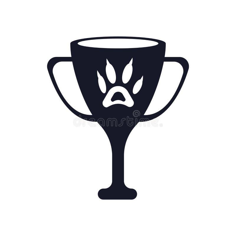 奖象在白色背景和标志隔绝的传染媒介标志,奖商标概念 向量例证