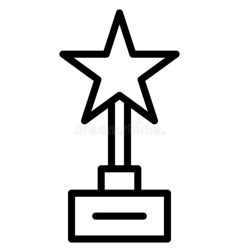 奖隔绝了可能容易地修改或编辑的传染媒介象 库存例证