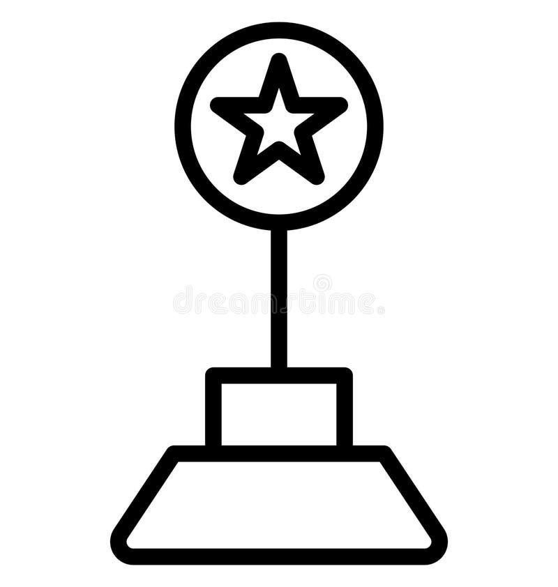 奖隔绝了可能容易地修改或编辑的传染媒介象 向量例证