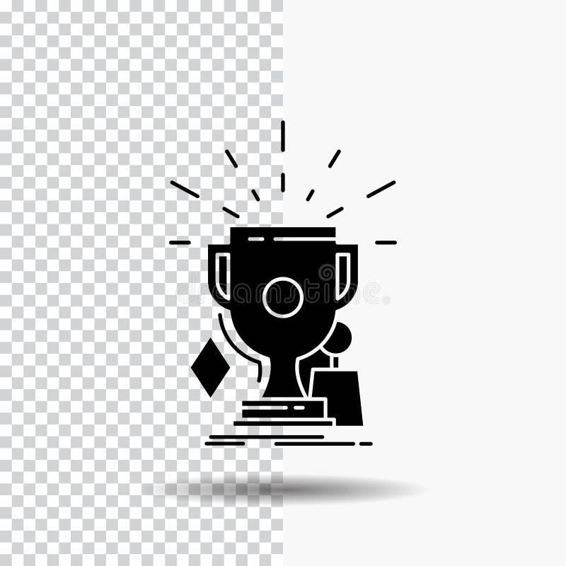 奖,比赛,体育,战利品,优胜者在透明背景的纵的沟纹象 ?? 皇族释放例证