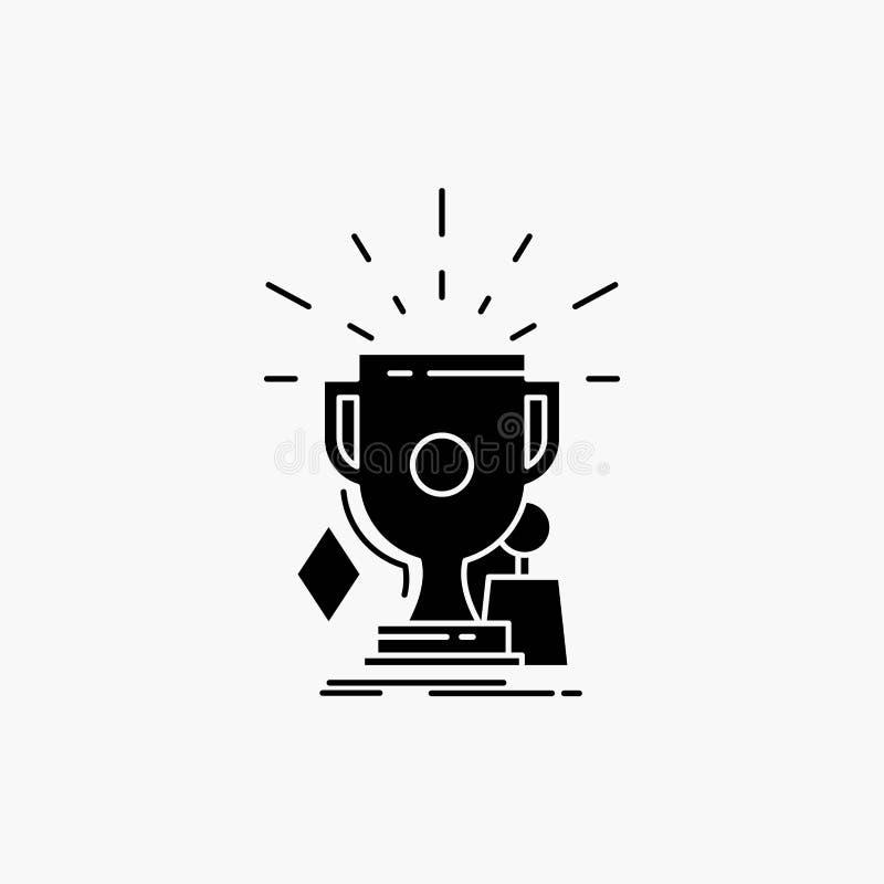 奖,比赛,体育,战利品,优胜者纵的沟纹象 r 向量例证