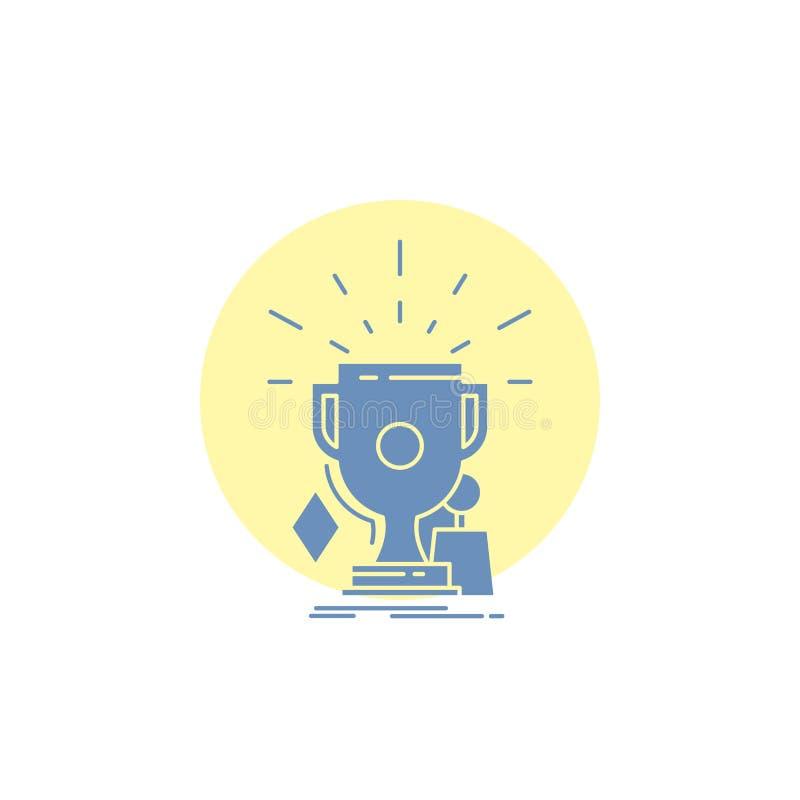 奖,比赛,体育,战利品,优胜者纵的沟纹象 库存例证