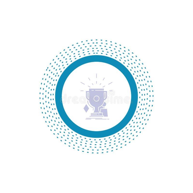 奖,比赛,体育,战利品,优胜者纵的沟纹象 r 皇族释放例证