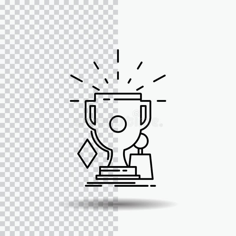 奖,比赛,体育,战利品,在透明背景的优胜者线象 r 向量例证