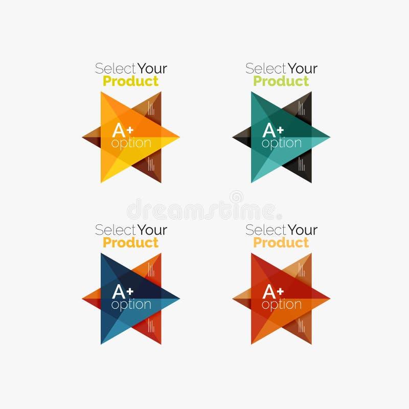 套三角几何企业infographic模板 向量例证