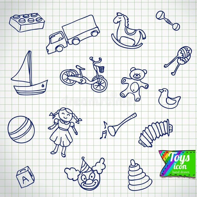 套不同的动画片传染媒介玩具 向量例证