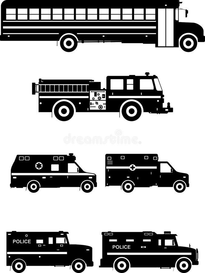 套不同的特别汽车 也corel凹道例证向量 皇族释放例证