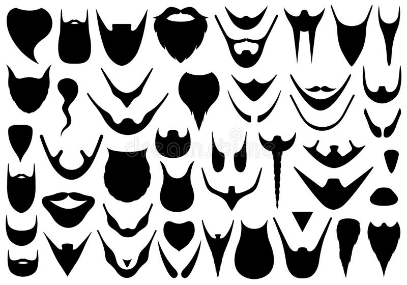 套不同的胡子 库存例证
