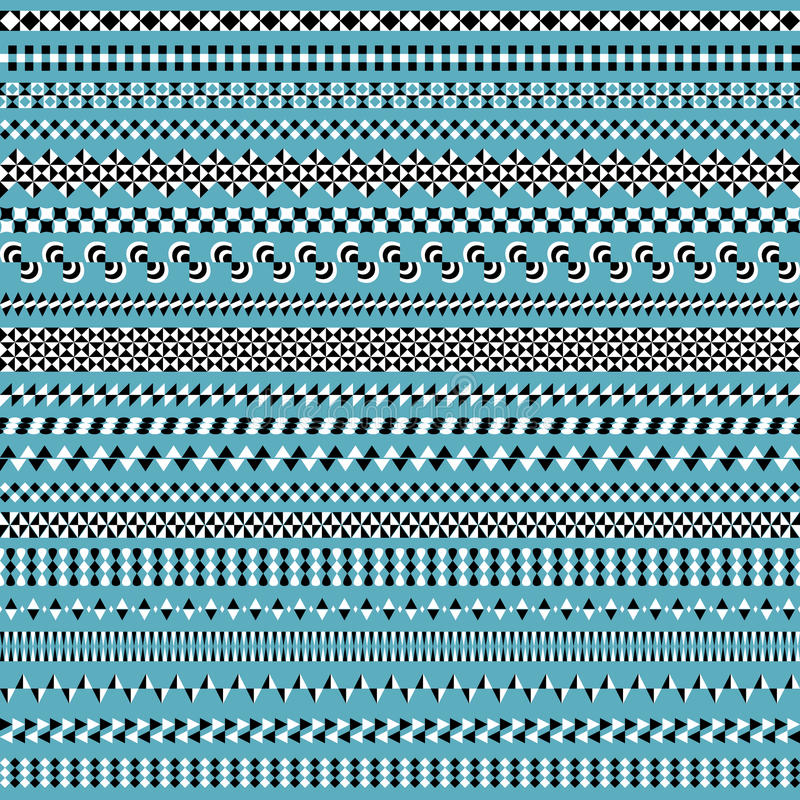 套与三角元素的无缝的同色而浓淡不同的刷子 向量例证