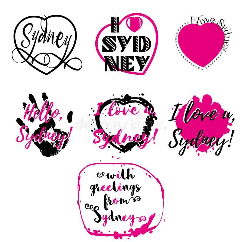 Download 套与字法的标签我爱悉尼 向量例证. 插画 包括有 衬衣, 飞溅声, 收集, 海报, 图象, 澳洲, 打印 - 72356401