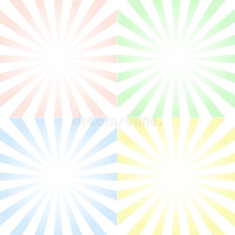 套与被集中的对称光芒和梯度的背景, 库存例证