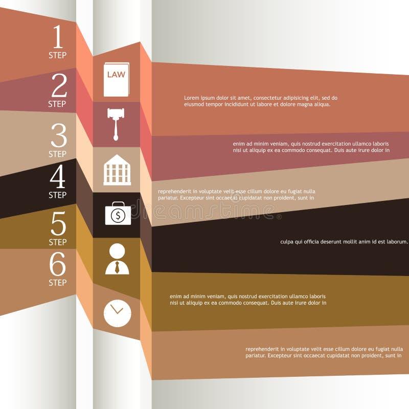 套丝带。Infographic设计 皇族释放例证
