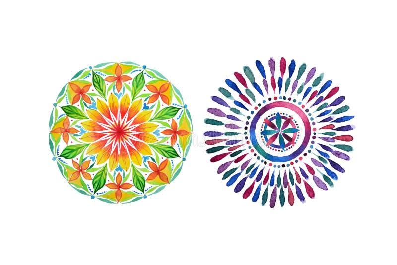 套两个不同色的坛场 向量例证