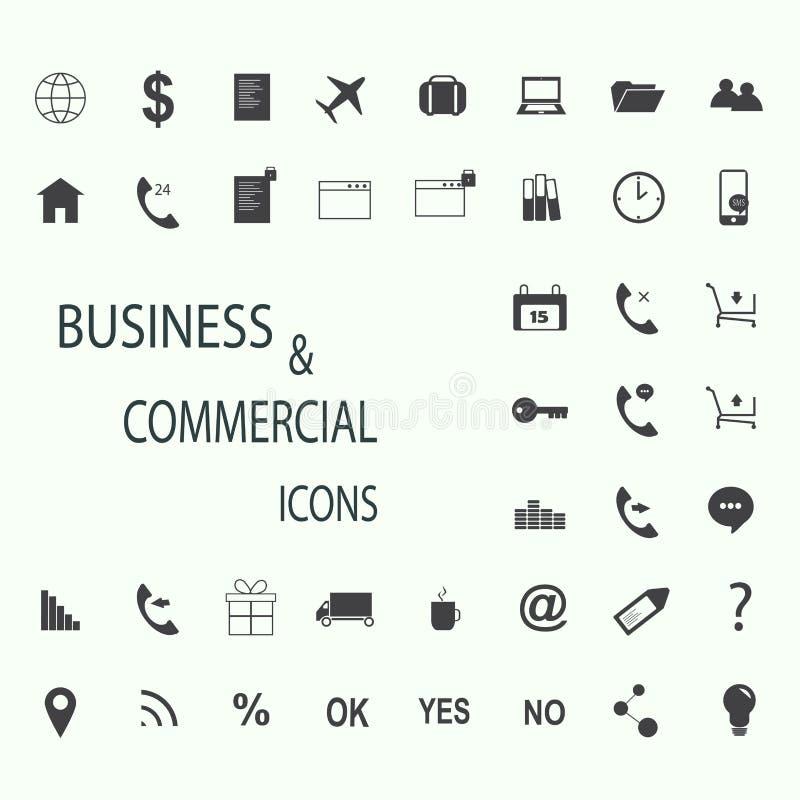 套事务、财务和通信的网象 库存照片
