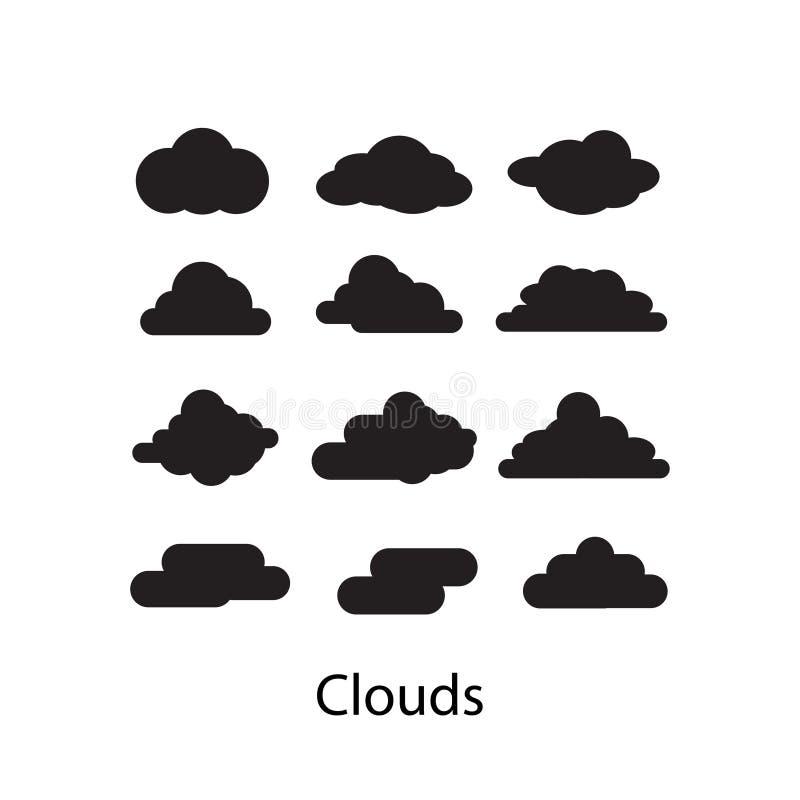 套云彩象在白色背景的传染媒介例证 向量例证