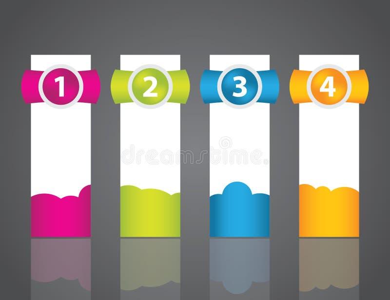套五颜六色的范例标签 向量例证