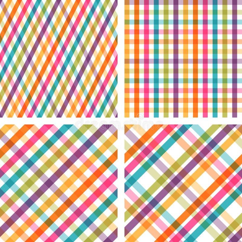 套五颜六色的镶边无缝的样式 皇族释放例证
