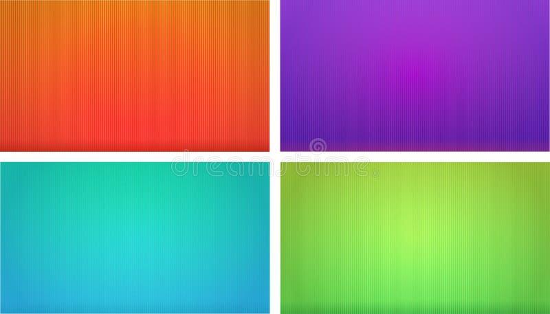 套五颜六色的镶边背景 免版税图库摄影
