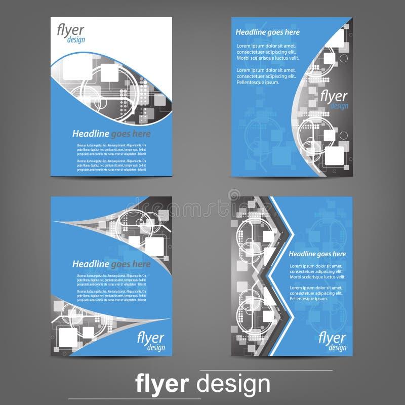 套企业飞行物模板、公司横幅或者盖子设计 向量例证