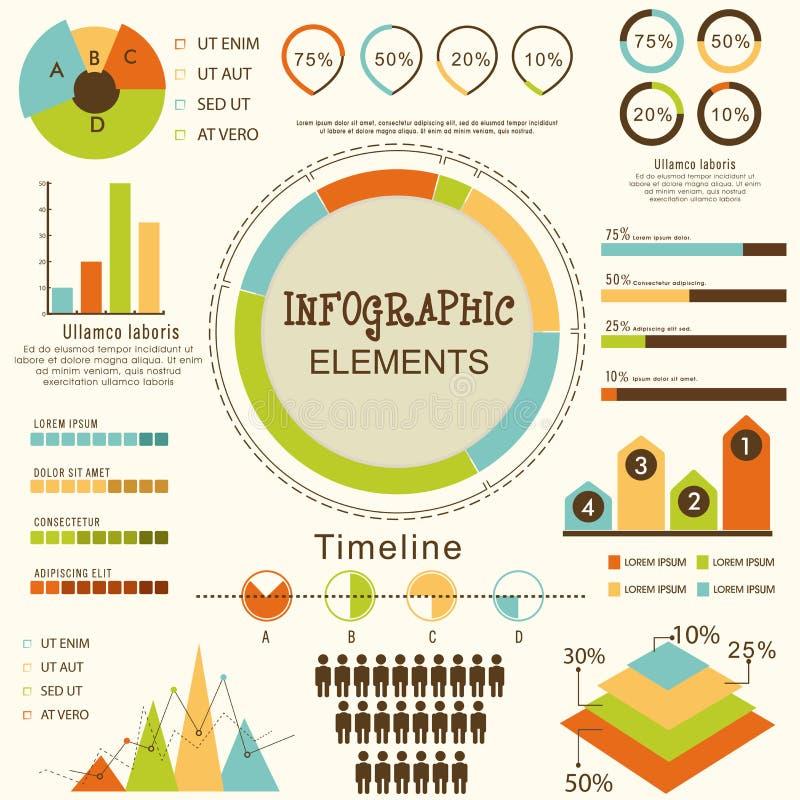 套企业infographic元素 向量例证