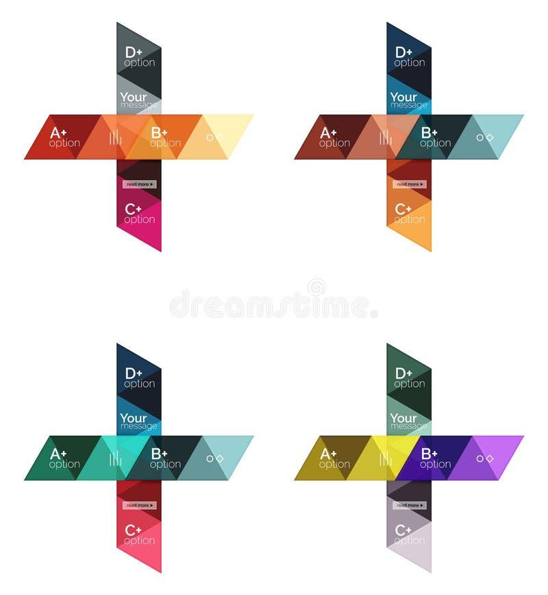 套传染媒介三角几何infographic 库存例证