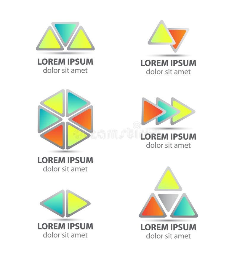 套传染媒介三角被隔绝的摘要象 向量例证