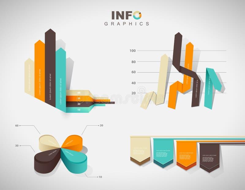 套传染媒介平的设计infographics统计图 库存例证
