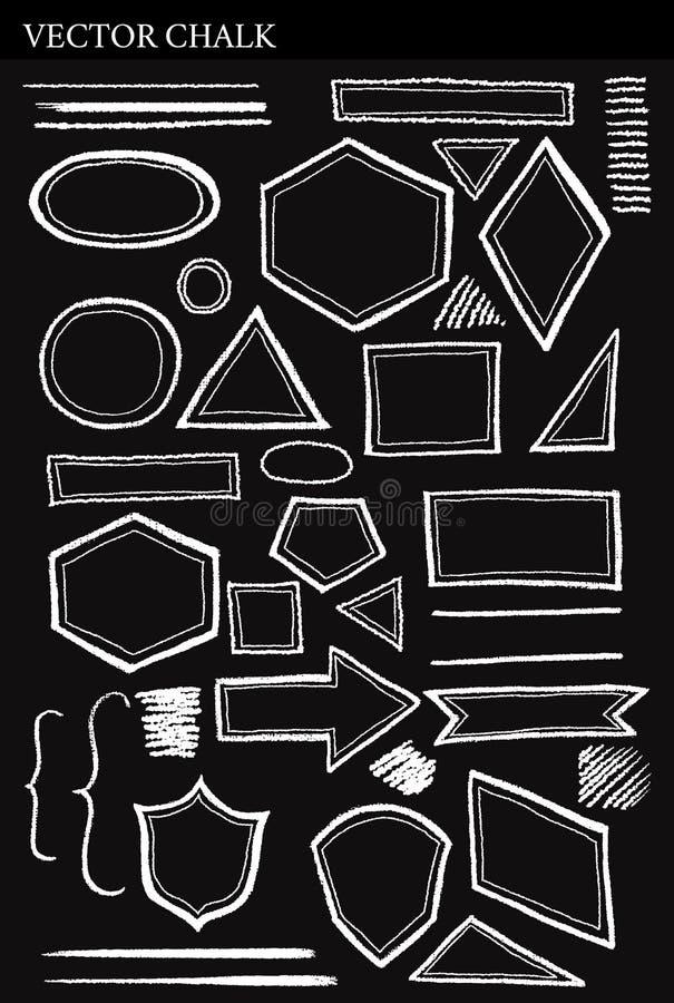 套传染媒介白垩形状难看的东西设计元素 免版税库存照片