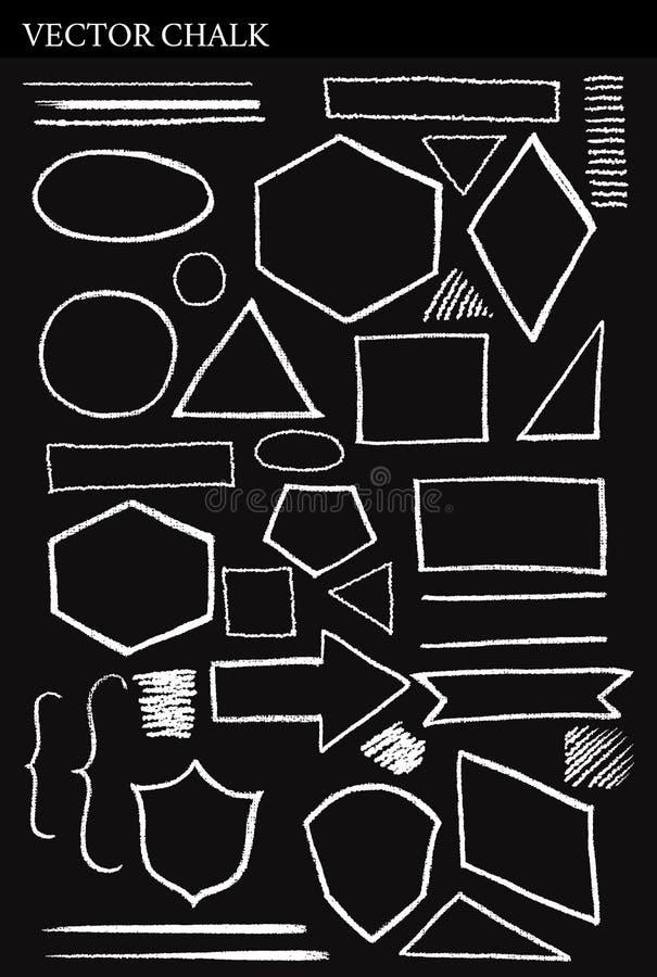 套传染媒介白垩形状难看的东西设计元素 免版税库存图片