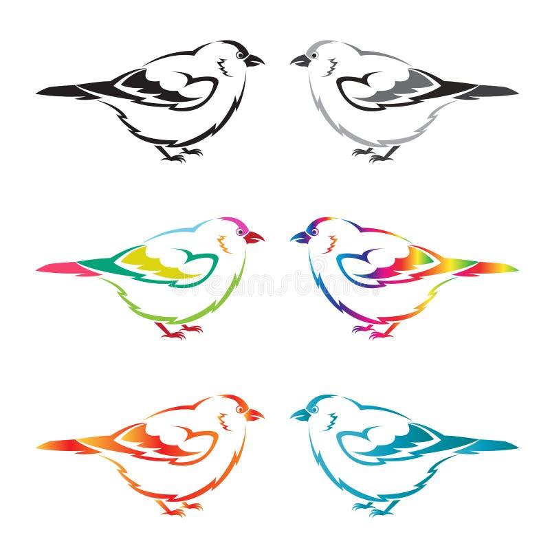 套传染媒介鸟 向量例证